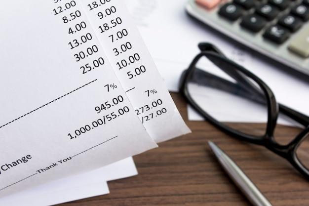 Zahlungseingang in draufsicht