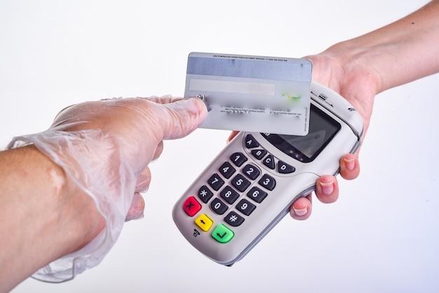 Zahlungsterminal.