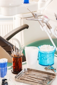 Zahnarzt am arbeitsplatz