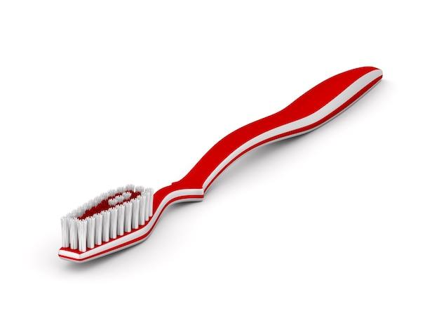 Zahnbürste auf weißer oberfläche. isolierte 3d-illustration.