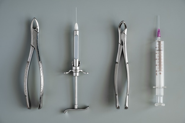 Zahnmedizinische medizinische werkzeuge pinzette