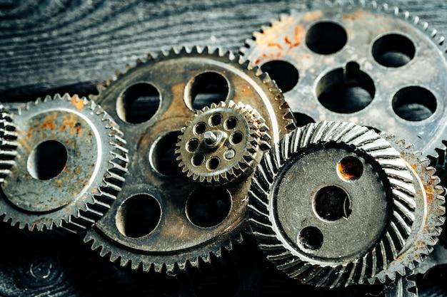 Zahnräder aus einer alten industriemaschine