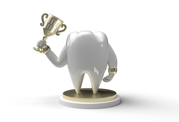 Zahnzahn mit trophy-stift-tool erstellter beschneidungspfad in jpeg enthalten einfach zu zusammengesetzt.