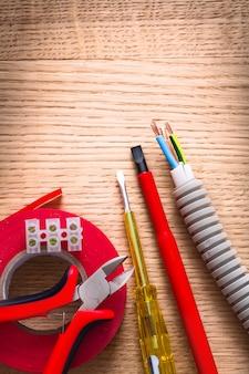 Zangen isolierbandklemmen blockiert elektrokabelschraubendreher