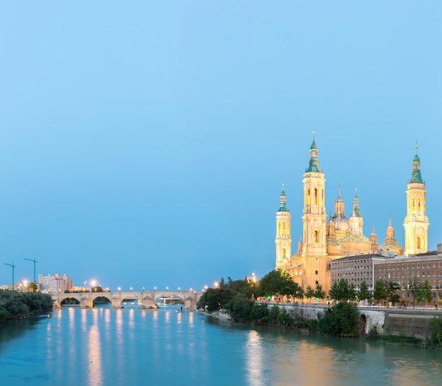 Zaragoza basilica spanien panorama