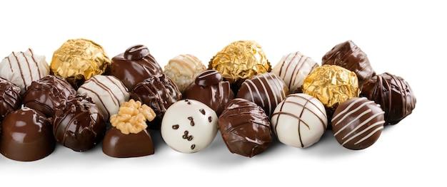 Zartbitter- & vollmilchschokolade , pralinen , trüffel, sortiert
