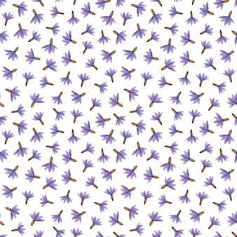 Zarte gepresste blumenaquarell-nahtlose muster und getrocknete blumenarrangements werden auf natürlichen hintergründen platziert