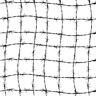Zaun aus stacheldrähten
