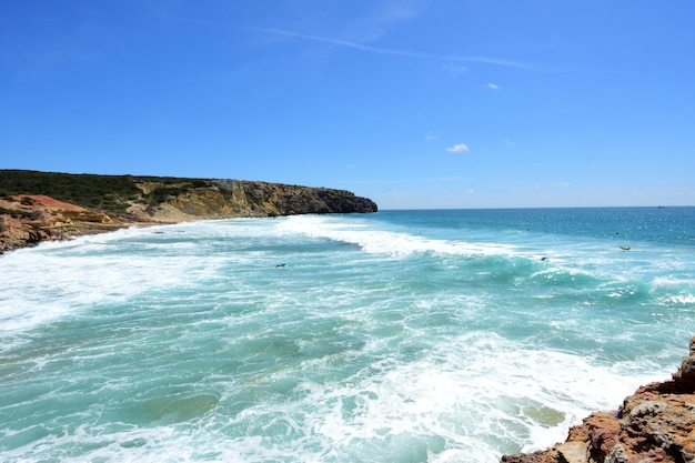 Zavial strand, vila tun bispo, algarve, portugal