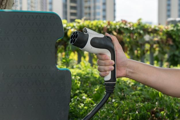 Zeichen für eine stromversorgung für elektroautos