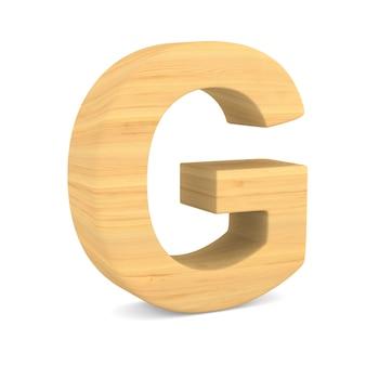 Zeichen g auf leerzeichen. isolierte 3d-illustration