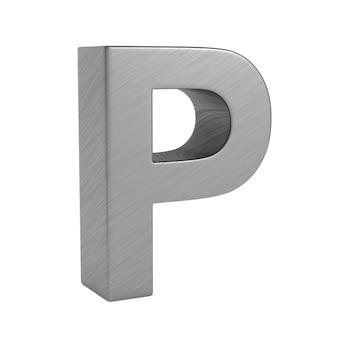 Zeichen p auf leerzeichen. isolierte 3d-illustration