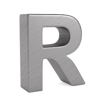 Zeichen r auf leerzeichen. isolierte 3d-illustration