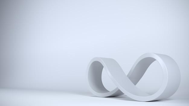 Zeichen unendlich blau spirale geschlossene form.
