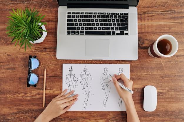 Zeichner modedesigner
