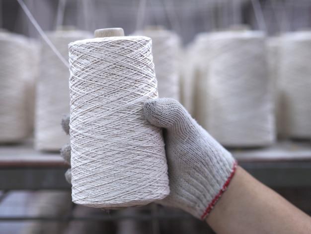 Zeile der textilfädenindustrie