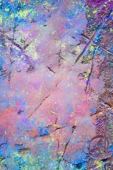 Zeilendrucke auf lila pulver