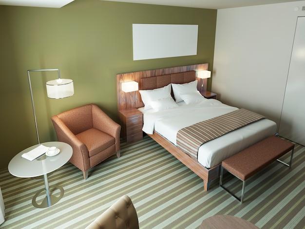 Zeitgemäßes schlafzimmerdesign