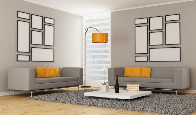 Zeitgemäßes wohnzimmer