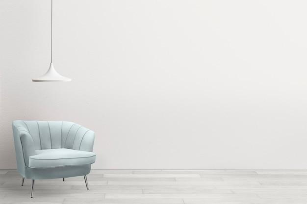Zeitgenössische wohnzimmereinrichtung mit luxussessel