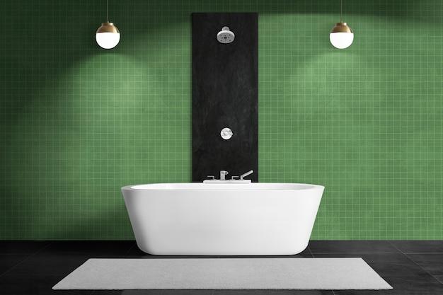 Zeitgenössisches badezimmer authentisches innendesign