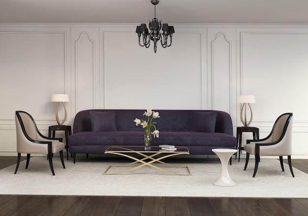 Zeitgenössisches elegantes zeitgenössisches wohnzimmer
