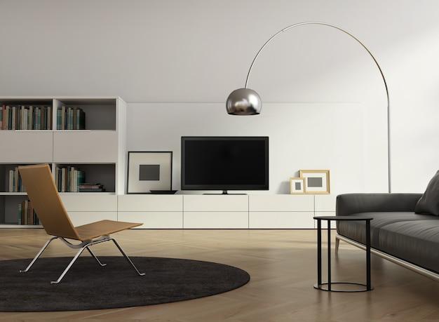 Zeitgenössisches modernes wandsystemwohnzimmer