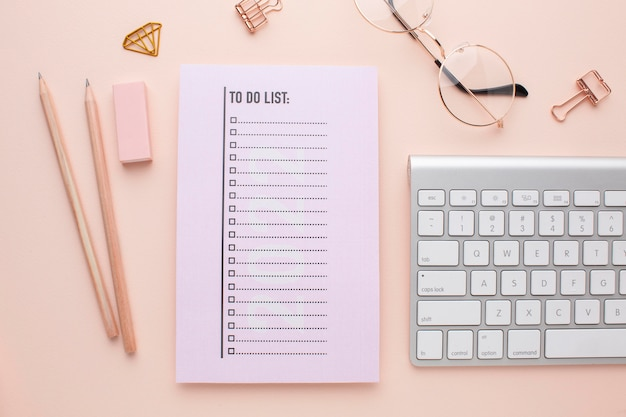 Zeitorganisationskonzept mit planer-draufsicht