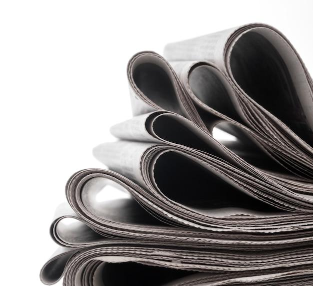 Zeitungen gefaltet und gestapelt