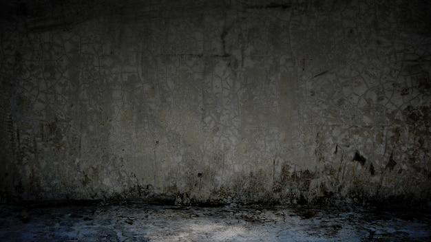 Zementbodenhintergrund auf studioraum und scheinwerferlicht.