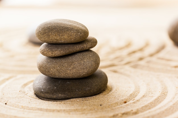 Zen garten meditationsstein
