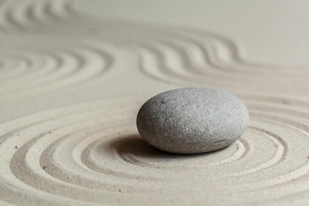 Zen steingarten