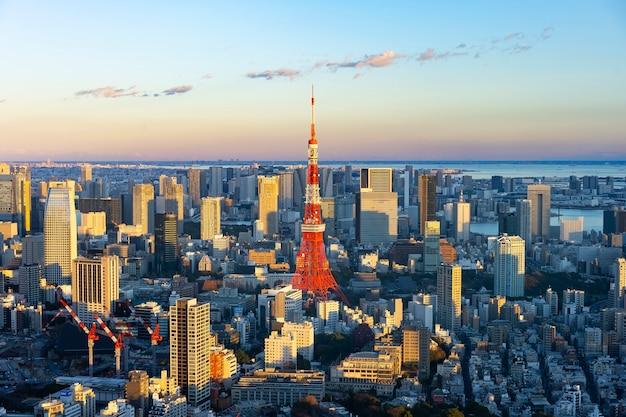 Zentrales tokio und tokyo tower