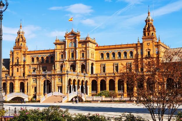Zentralgebäude der plaza de espana. sevilla