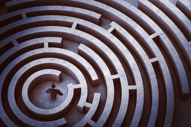 Zentrum eines labyrinths