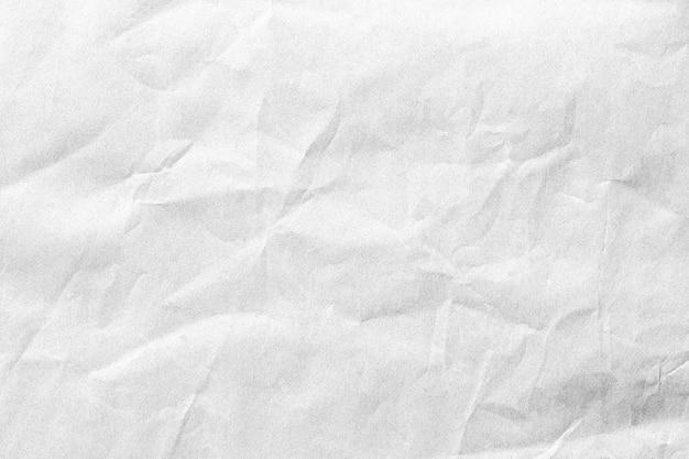 Zerknitterte weiße papierhintergrundbeschaffenheit