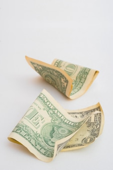 Zerknitterter dollarschein