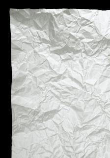 Zerknittertes papier braunen müll