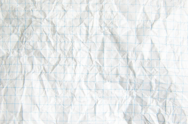 Zerknittertes papier, ideal für texturen und hintergründe