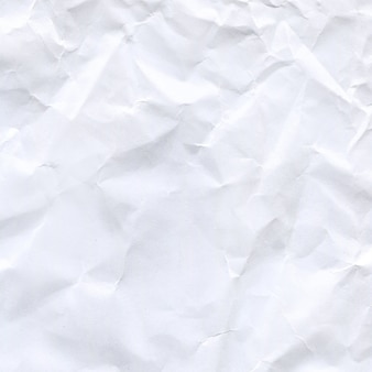 Zerknittertes weißes papier