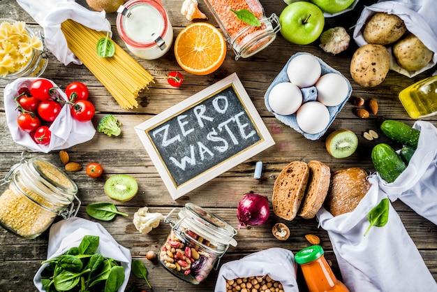 Zero waste shopping-konzept