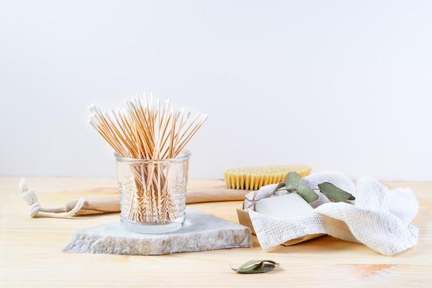 Zero waste supplies für die persönliche hygiene