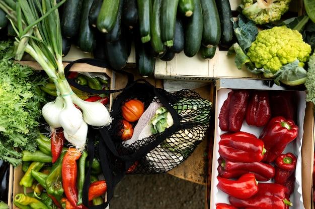 Zero waste tasche für lebensmittel