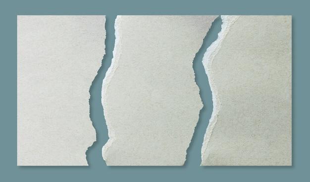 Zerreiße das braune papier