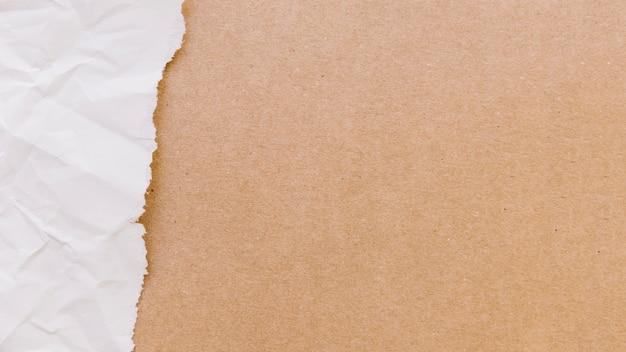 Zerrissene papierbeschaffenheit mit pappe