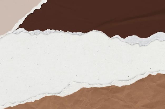Zerrissenes papier brauner hintergrund erdton handgemachtes handwerk