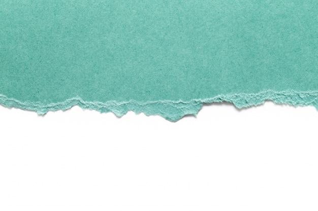 Zerrissenes papier isoliert