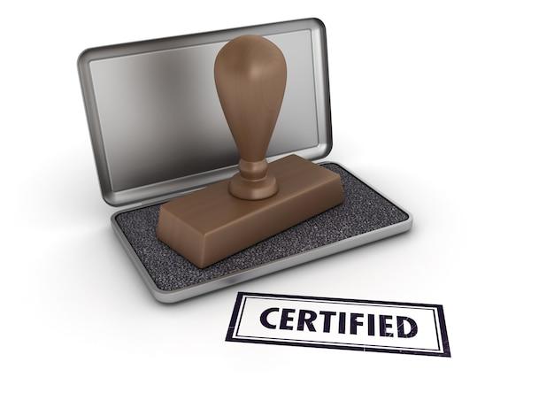 Zertifizierter stempel