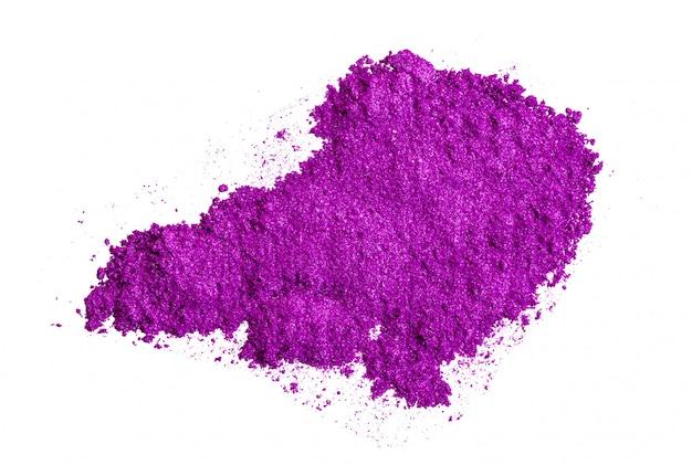 Zertrümmerte lidschatten von leuchtend lila farbe, make-up