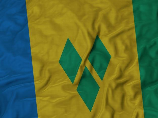 Zerzauste flagge von st. vincent und die grenadinen